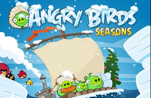 Angry birds phi n b n gi ng sinh s n s ng - Angry birds noel ...