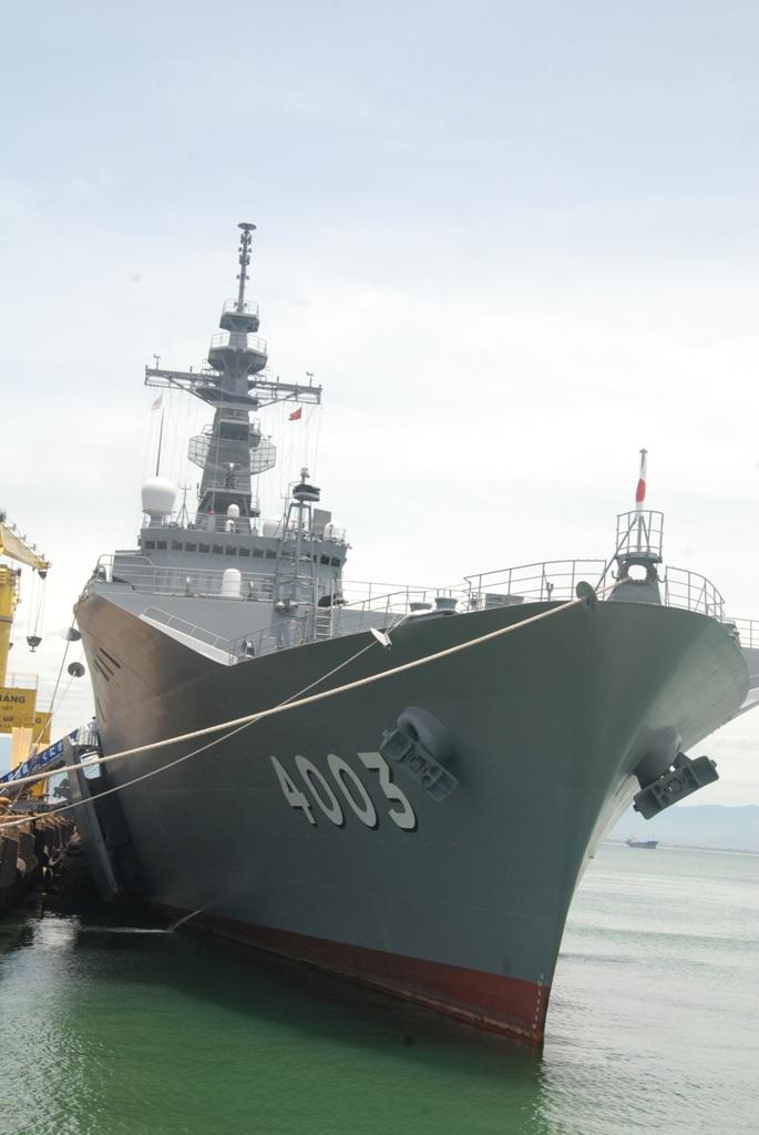 Khám phá tàu đổ bộ Nhật Bản vừa cập cảng Tiên Sa