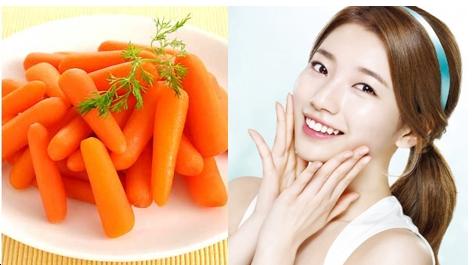 Kết quả hình ảnh cho cà rốt làm đẹp