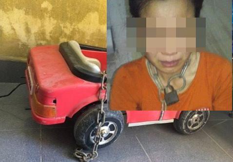 Thông tin mới vụ chồng dùng xích khóa cổ vợ ở Thái Bình