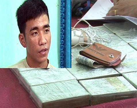 Bắt thanh niên vận chuyển 20 bánh heroin với giá 50 triệu đồng tiền công