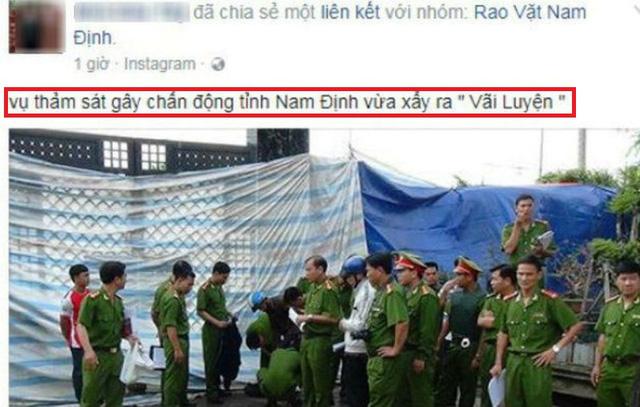 """Truy tìm đối tượng tung tin """"thảm sát 8 người chết ở Nam Định"""""""
