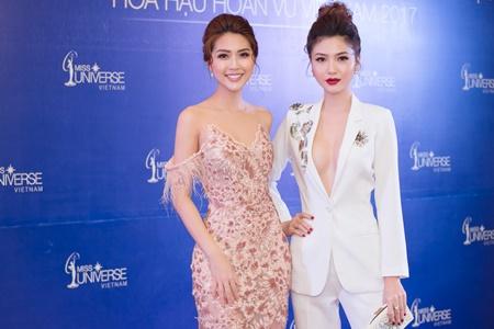 Hai nữ hoàng sắc đẹp quốc tế Tường Linh - Ngọc Duyên lần đầu dự chung sự kiện