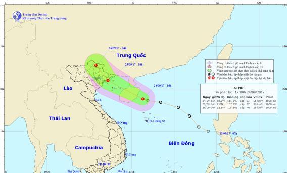 Áp thấp nhiệt đới giật cấp 9 có thể đổ bộ vào Quảng Ninh, Hải Phòng