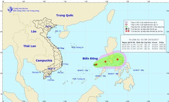 Vùng áp thấp có thể mạnh lên thành áp thấp nhiệt đới và di chuyển bất thường