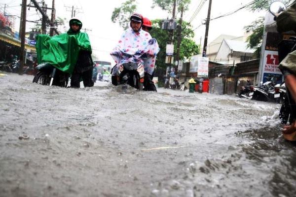 Chiều tối nay, TP. Hồ Chí Minh vẫn có thể mưa to, ngập nặng