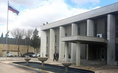 Đại sứ quán Nga tại Syria trúng đạn pháo kích 122mm