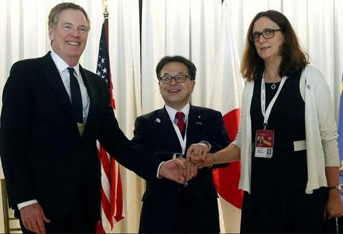 Chiến tranh thương mại Mỹ - Trung: Bắc Kinh đối mặt mới mối lo từ liên minh Mỹ - Nhật - EU