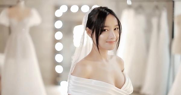 Nhã Phương đẹp lộng lẫy trong mẫu váy cưới Chung Thanh Phong thiết kế
