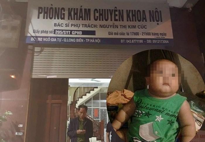 Đình chỉ hoạt động phòng khám tư xảy ra vụ bé 2 tuổi tử vong sau truyền dịch