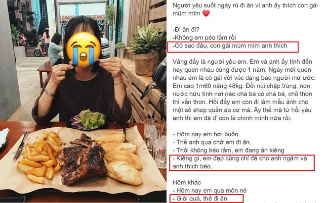 - 'Vỗ béo' bạn gái mỗi tháng tăng 2kg, câu nói cuối cùng của chàng trai mới là điều gây sốc