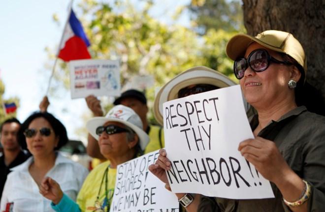 Philippines: Tuần hành ủng hộ Việt Nam, phản đối Trung Quốc