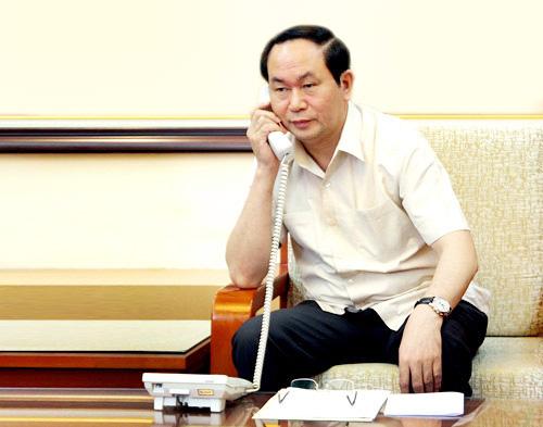 Bộ trưởng Trần Đại Quang điện đàm với Bộ trưởng Công an TQ