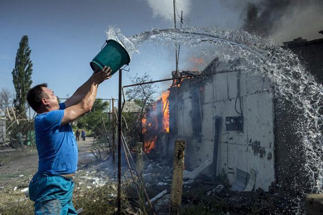 Miền đông Ukraina tan hoang sau các cuộc giao tranh