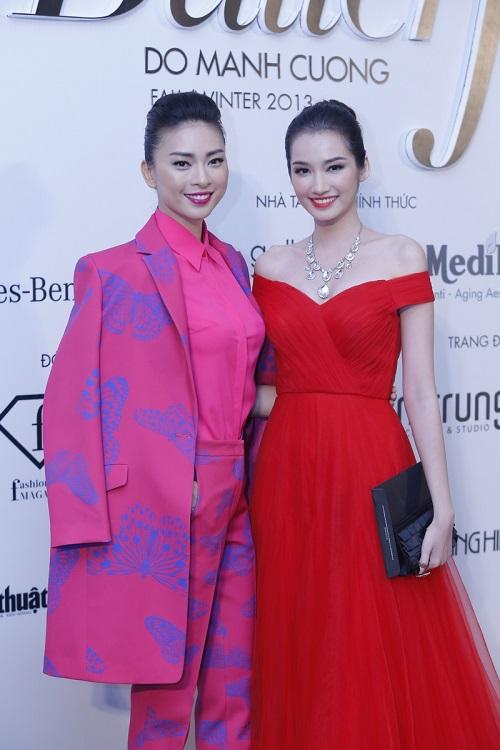 Đoan Trang vác bụng bầu 5 tháng đi xem thời trang-7