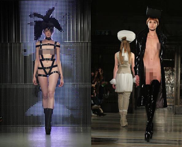 Sàn diễn thời trang ngập tràn mẫu nude
