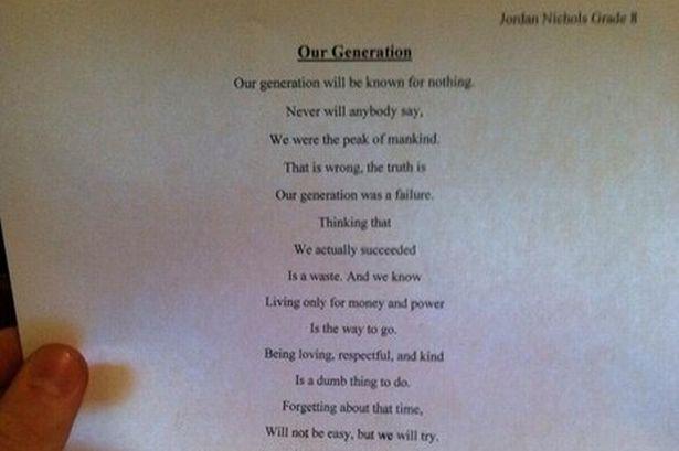 """Bài thơ của nam sinh 14 tuổi """"gây sốt"""" cộng đồng mạng  - Ảnh 1"""