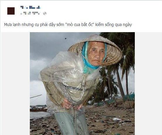 Cụ già gần 80 tuổi mò cua kiếm sống trong trời đêm rét buốt