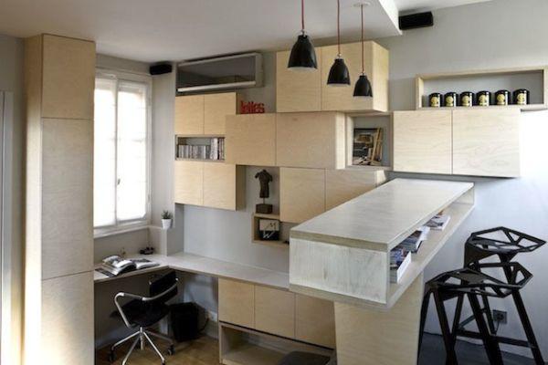 Thiết kế sáng tạo cho căn hộ nhỏ hẹp 12 m2