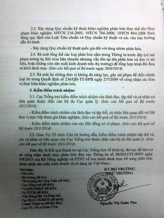 Lãnh đạo Cục trồng trọt - Bộ NN&PTNT bị tố trù dập cán bộ?