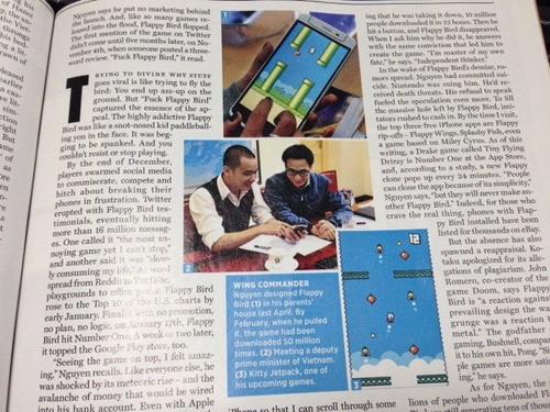 Phó Thủ tướng và cha đẻ Flappy Bird xuất hiện trên Rolling Stone