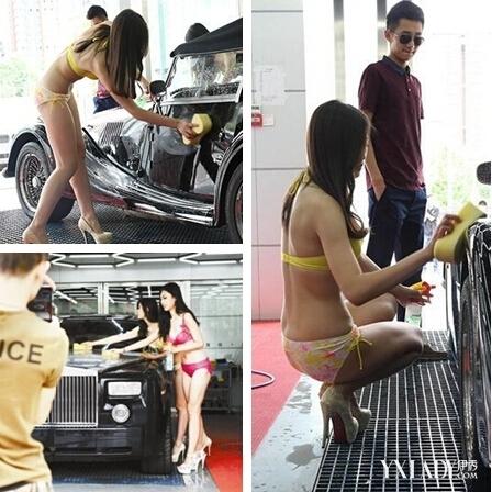 Rửa xe ngắm chân dài mặc bikini giá 3 triệu đồng