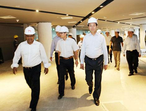 Đại tướng Trần Đại Quang thăm Tổ hợp Interpol Toàn cầu