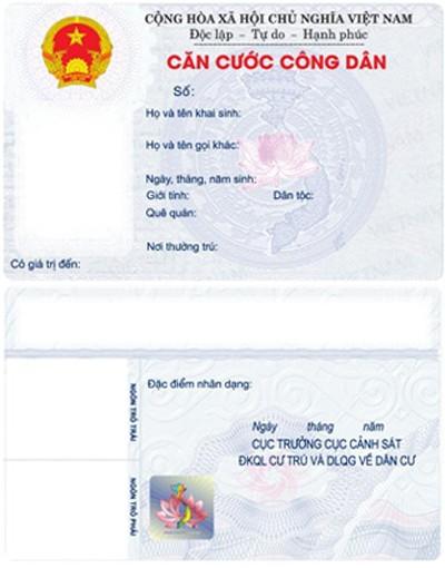 Đề nghị miễn phí cấp thẻ căn cước công dân lần đầu