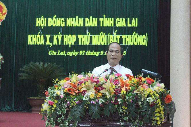 Họp bất thường, Gia Lai có chủ tịch tỉnh mới - ảnh 1