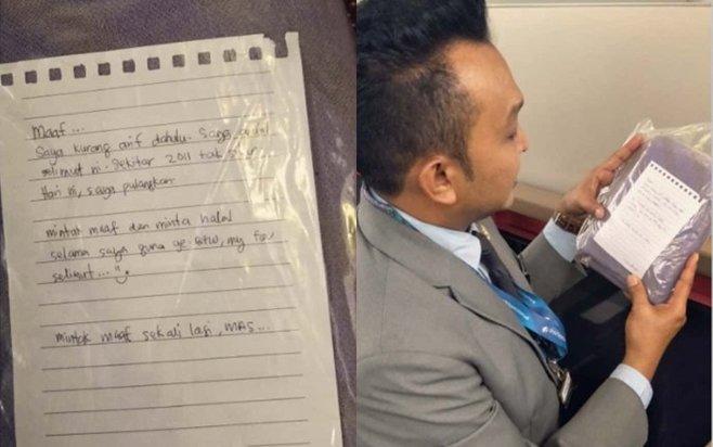 Hành khách xin lỗi và trả lại đồ cho máy bay sau 9 năm biển thủ - ảnh 1