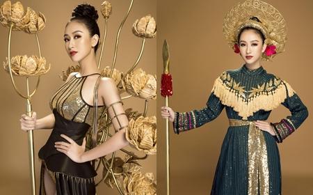 Hà Thu dành tặng quốc phục tại Miss Earth cho Bảo tàng Phụ nữ Nam Bộ - ảnh 1