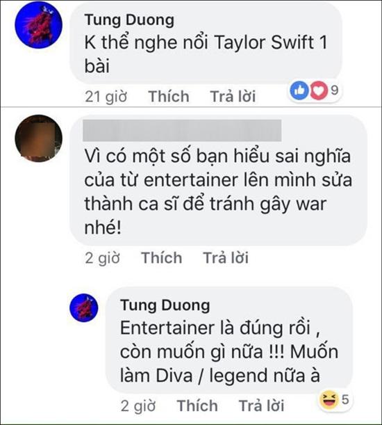 Tùng Dương khiến fan Taylor Swift phẫn nộ vì phát ngôn trên mạng xã hội - ảnh 1