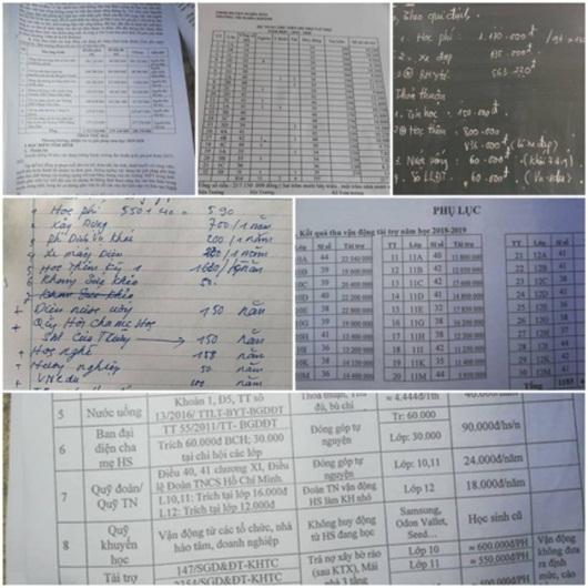 Nghệ An: Hé lộ các trường thu tiền tài trợ giáo dục trái quy định - ảnh 1