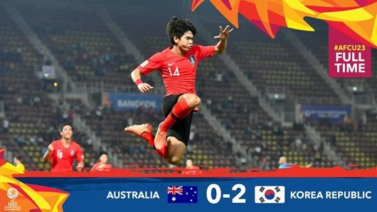 U23 Hàn Quốc xuất sắc đả bại U23 Australia, giành vé vào chung kết U23 châu Á - ảnh 1