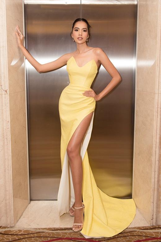 Top 10 Hoa hậu Hoàn vũ Việt Nam khoe chân dài mướt mắt - ảnh 1