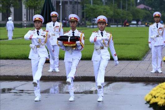 Lễ thượng cờ rủ Quốc tang nguyên Tổng Bí thư Lê Khả Phiêu - ảnh 1