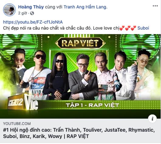Rap Việt tiến thẳng top trending khẳng định vị thế ngay tập mở màn  - ảnh 1