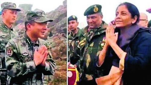 Bộ trưởng Ấn Độ trò chuyện trực tiếp với binh sĩ Trung Quốc ở biên giới - ảnh 1
