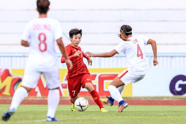SEA Games 30: Đội tuyển bóng đá nữ Việt Nam phấn khởi bước vào trận gặp chủ nhà Philippines - ảnh 1