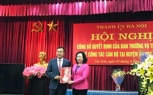 Con trai nguyên Bí thư Hà Nội Phạm Quang Nghị làm Phó bí thư huyện Sóc Sơn - Ảnh 1