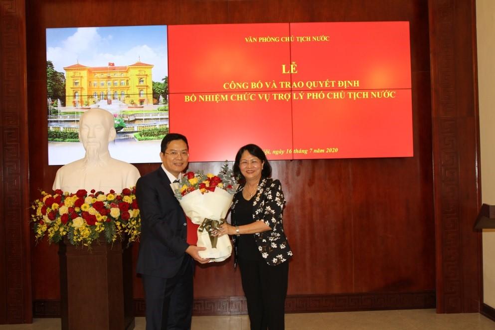 Bổ nhiệm ông Nguyễn Dũng Tiến làm Trợ lý Phó Chủ tịch nước - ảnh 1