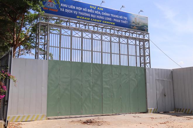 """Bình Thuận: Dự án Khu liên hợp hồ điều hòa bị """"tuýt còi"""" vì chưa có giấy phép xây dựng - ảnh 1"""