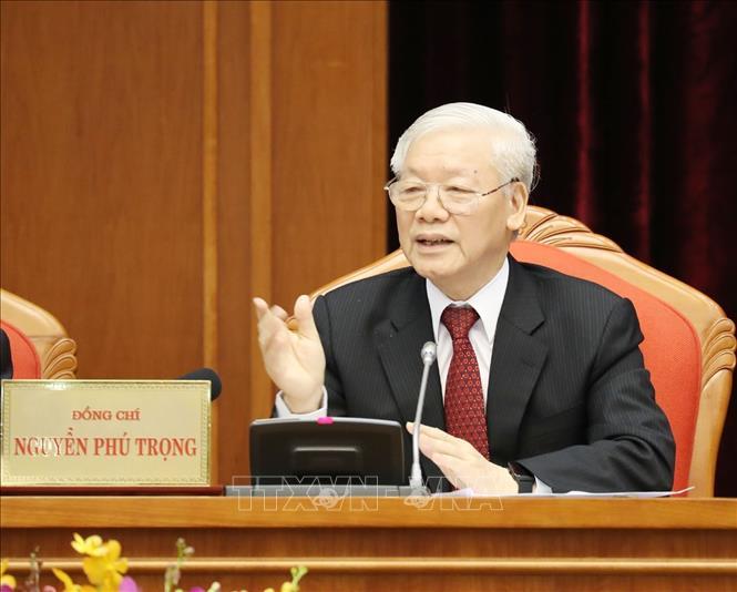 Hội nghị lần thứ 10 Ban Chấp hành Trung ương Đảng khóa XII: Ngày làm việc thứ nhất dưới sự chủ trì của Tổng Bí thư, Chủ tịch nước Nguyễn Phú Trọng - Ảnh 1