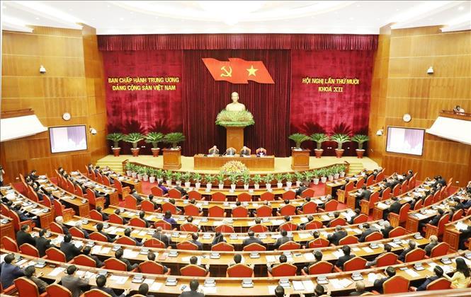 Hội nghị lần thứ 10 Ban Chấp hành Trung ương Đảng khóa XII: Ngày làm việc thứ nhất dưới sự chủ trì của Tổng Bí thư, Chủ tịch nước Nguyễn Phú Trọng - Ảnh 2