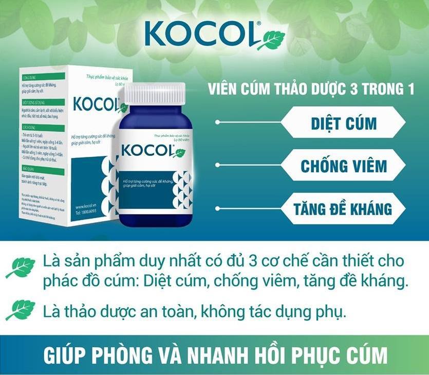 Kocol – Trị cảm cúm nhanh, an toàn cho bà bầu! - Ảnh 1