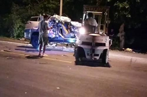 Hiện trường vụ tai nạn thảm khốc khiến 3 người phụ nữ tử nạn thương tâm - Ảnh 3
