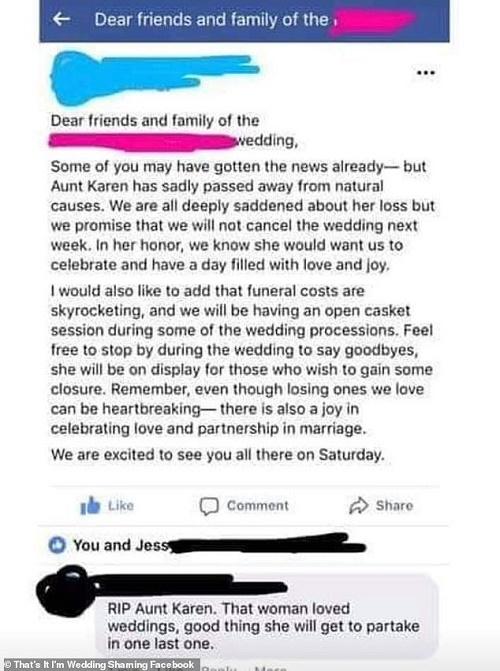 Hi hữu: Để tiết kiệm, cô gái tổ chức lễ cưới cùng lúc với đám tang người thân - ảnh 1
