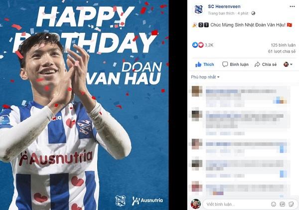 Học trò cưng của HLV Park đón sinh nhật đặc biệt tại Hà Lan - ảnh 1