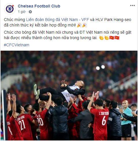 Ngỡ ngàng trang chủ Chelsea gửi lời chúc tới HLV Park Hang-seo gia hạn hợp đồng - ảnh 1