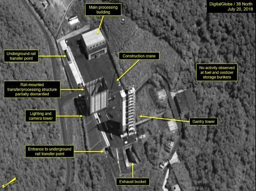 Triều Tiên bắt đầu tháo dỡ các cơ sở chính tại trạm phóng vệ tinh Sohae - ảnh 1